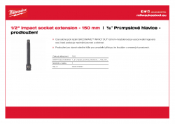 "MILWAUKEE ½"" impact socket extensions Prodloužení ½″ - 150 mm 4932478057 A4 PDF"