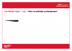 MILWAUKEE Chuck keys and accessories Vyhazovací nástroj DIN 317 rozměr 3 4932604226 A4 PDF