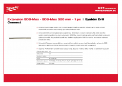 MILWAUKEE SDS-Max Drill Connect Prodloužení SDS-Max 4932399242 A4 PDF