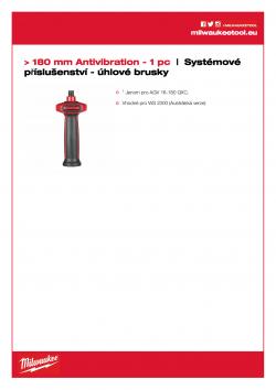 MILWAUKEE System accessories - Angle grinders Antivibrační boční rukojeť 4932399992 A4 PDF