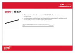MILWAUKEE Guidehose Switchpack Vodicí hadice pro automatický posuv SWITCH PACK™ 4932471994 A4 PDF