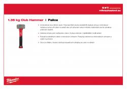 MILWAUKEE Club Hammer Kladivo Club 1,36 kg 4932478255 A4 PDF
