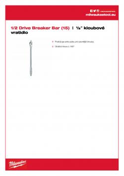 MILWAUKEE 1/2 Drive Breaker Bar ½″ kloubové vratidlo  (15˝) 4932471866 A4 PDF