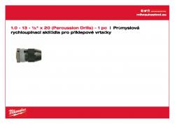 MILWAUKEE Keyless Chucks - percussion drills  4932364266 A4 PDF