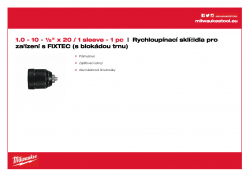 MILWAUKEE Keyless Chucks for FIXTEC machines  4932372443 A4 PDF