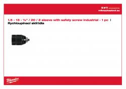MILWAUKEE Keyless Chucks 2 sleeves  4932364267 A4 PDF