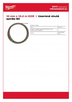 MILWAUKEE Tight Wind Spiral SD Spirála 10 mm x 15 m 48532773 A4 PDF