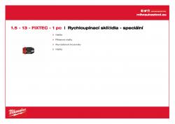 MILWAUKEE Keyless Chucks - Machine specific  4932399214 A4 PDF