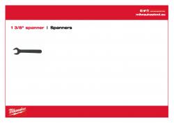 MILWAUKEE Spanners Otevřený klíč 1 ⅜″ . K přidržení vřetena motoru při odstraňování jádrové korunky. 49964705 A4 PDF