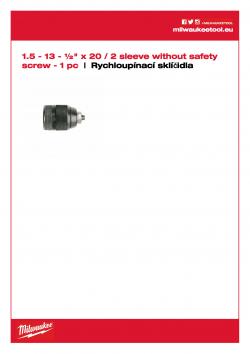 MILWAUKEE Keyless Chucks 2 sleeves  4932376531 A4 PDF
