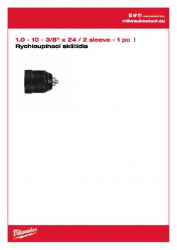 MILWAUKEE Keyless Chucks 2 sleeves  4932349457 A4 PDF