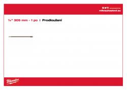 MILWAUKEE Flat Boring Drills Extension Prodloužení 4932363148 A4 PDF