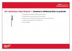 MILWAUKEE Pipe wrenches Hliníkový klíč na potrubí 600 mm 48227224 A4 PDF