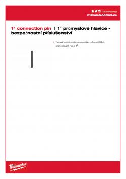 """MILWAUKEE 1"""" socket security accessories 1"""" bezpečnostní trn 4932471679 A4 PDF"""