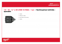 MILWAUKEE Keyless Chucks - Machine specific  48661520 A4 PDF