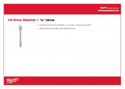 MILWAUKEE 1/2 Drive Ratchet ½″ ráčna 4932471865 A4 PDF