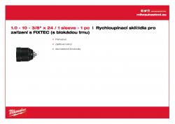 MILWAUKEE Keyless Chucks for FIXTEC machines  4932371018 A4 PDF
