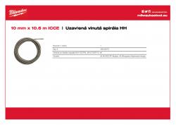 MILWAUKEE Tight Wind Spiral HH Spirála 10 mm x 10.5 m pro M18PF. 48532675 A4 PDF