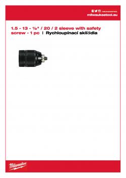 MILWAUKEE Keyless Chucks 2 sleeves  4932376533 A4 PDF