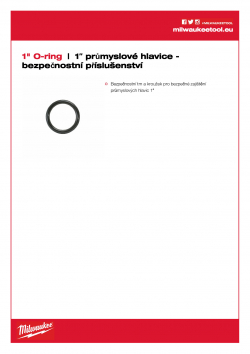 """MILWAUKEE 1"""" socket security accessories 1"""" bezpečnostní kroužek 4932471678 A4 PDF"""