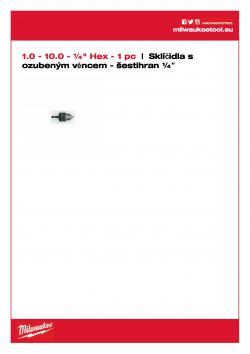 "MILWAUKEE Keyed Chucks with ¼"" Hex reception  4932314867 A4 PDF"