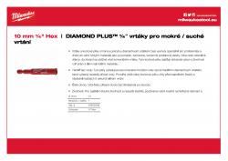 MILWAUKEE Diamond Plus wet / dry drill bits  49560509 A4 PDF