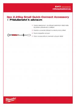 MILWAUKEE Tool Lanyard Accessory Malé QUICK-CONNECT™ příslušenství 2,2 kg 4932471430 A4 PDF