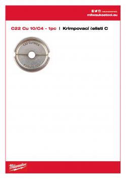 MILWAUKEE Crimping dies C C22 Cu 10/C4 4932464863 A4 PDF