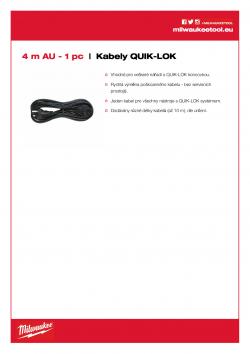 MILWAUKEE Cables  4932373506 A4 PDF