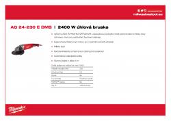 MILWAUKEE AG 24 2400 W 230 mm úhlová bruska 4933402450 A4 PDF