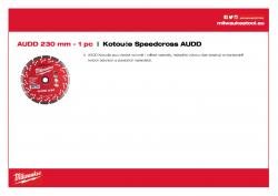 MILWAUKEE Premium Speedcross AUDD AUDD 230 4932399826 A4 PDF