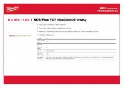 MILWAUKEE SDS-Plus TCT Multipurpose Drills  4932373919 A4 PDF