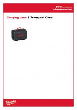 MILWAUKEE Transport Case Plastový přepravní kufr. 201672001 A4 PDF