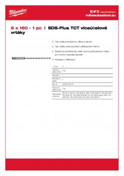 MILWAUKEE SDS-Plus TCT Multipurpose Drills  4932373918 A4 PDF