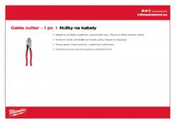 MILWAUKEE Cable cutter Nůžky na kabely 48226104 A4 PDF
