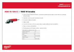 MILWAUKEE AGS 15-125 C 1500 W 125 mm bruska 4933407480 A4 PDF