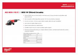 MILWAUKEE AG 800 E 800 W Úhlová bruska 4933451210 A4 PDF