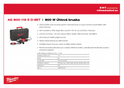 MILWAUKEE AG 800 E 800 W Úhlová bruska 4933451281 A4 PDF