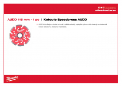 MILWAUKEE Premium Speedcross AUDD AUDD 115 4932399823 A4 PDF