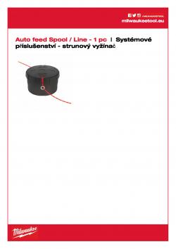 MILWAUKEE Line trimmer System accessories Náhradní cívka s automatickým podáváním (obsahuje strunu 49162712) 49162714 A4 PDF