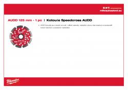 MILWAUKEE Premium Speedcross AUDD AUDD 125 4932399824 A4 PDF