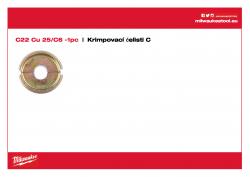 MILWAUKEE Crimping dies C C22 Cu 25/C6 4932464865 A4 PDF