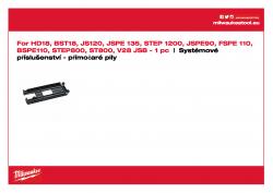 MILWAUKEE Gliding Shoes Kluzná patka Pro materiály s choulostivým povrchem 4932430356 A4 PDF
