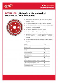 MILWAUKEE Combi-segment diamond cup wheels Univerzální kotouč na vysoký odběr materiálu. 4932451186 A4 PDF