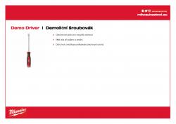 MILWAUKEE Demolition Driver Demoliční šroubovák 4932471871 A4 PDF