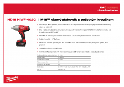 MILWAUKEE HD18 HIWF M18™ rázový utahovák s pojistným kroužkem 4933441789 A4 PDF