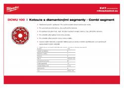 MILWAUKEE Combi-segment diamond cup wheels Univerzální kotouč na vysoký odběr materiálu. 4932451185 A4 PDF