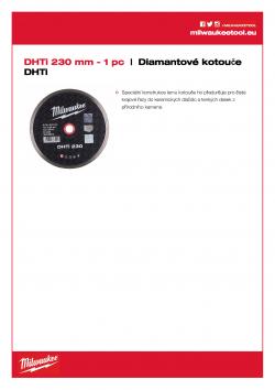 MILWAUKEE Professional DHTi DHTi 230 4932399555 A4 PDF