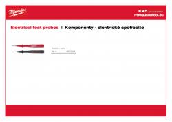 MILWAUKEE Electrical test probes Elektrické zkušební sondy (1000 Volt/10 Amper) hlavice dlouhé 125 mm 49771004 A4 PDF
