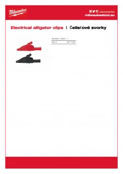 MILWAUKEE Electrical alligator clips Elektrické krokové svorky (max. 1000 Volt / 10 Amper) 49771005 A4 PDF